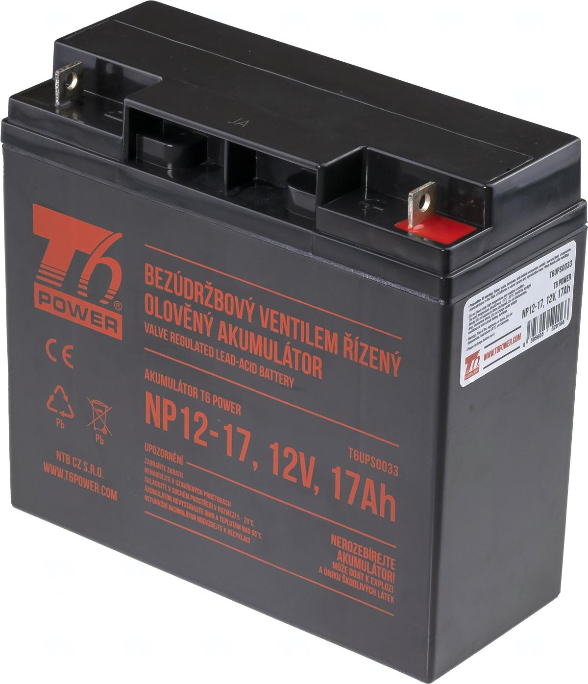 Akumulátor T6 Power NP12-17, 12V, 17Ah
