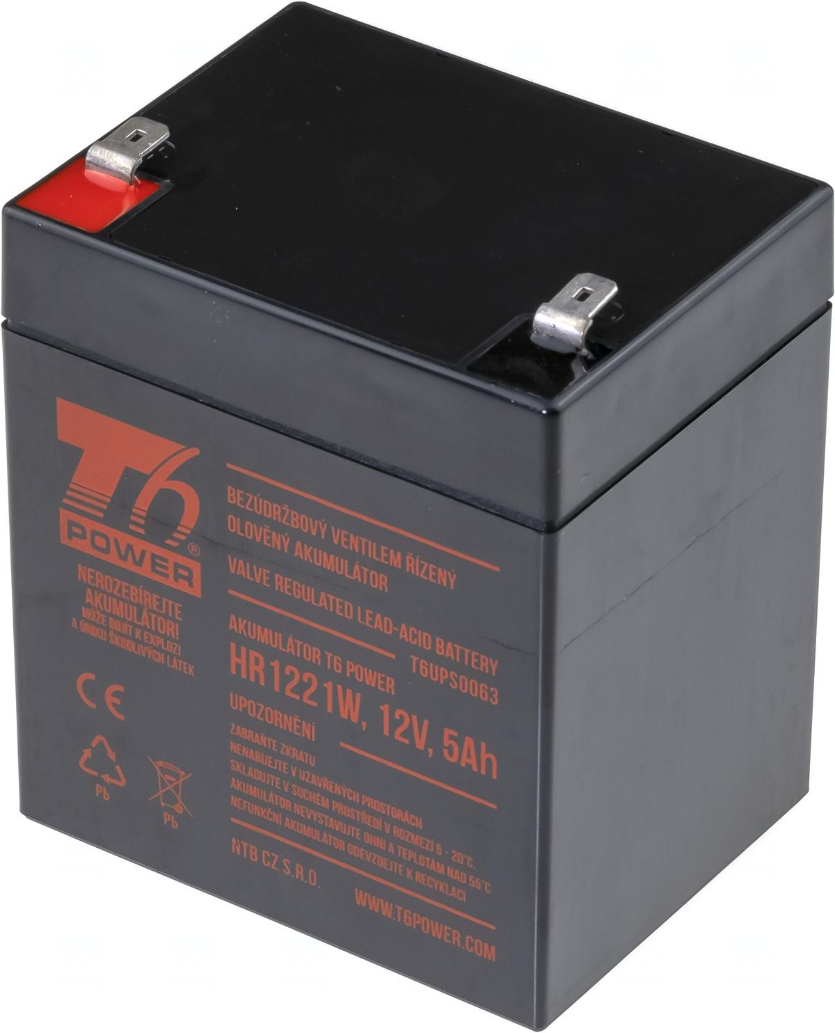 Akumulátor T6 Power HR1221W, 12V, 5Ah