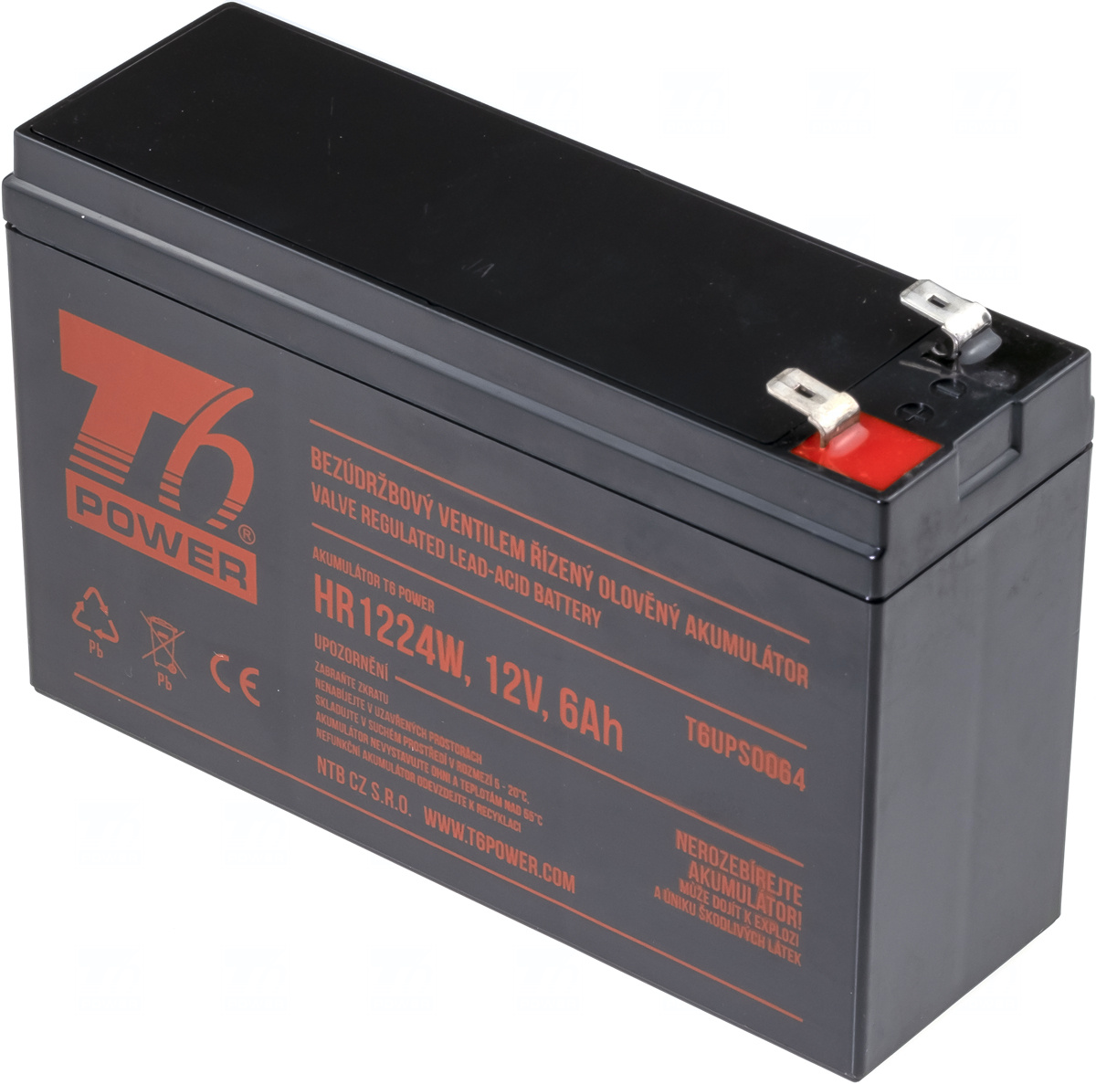 Akumulátor T6 Power HR1224W, 12V, 6Ah