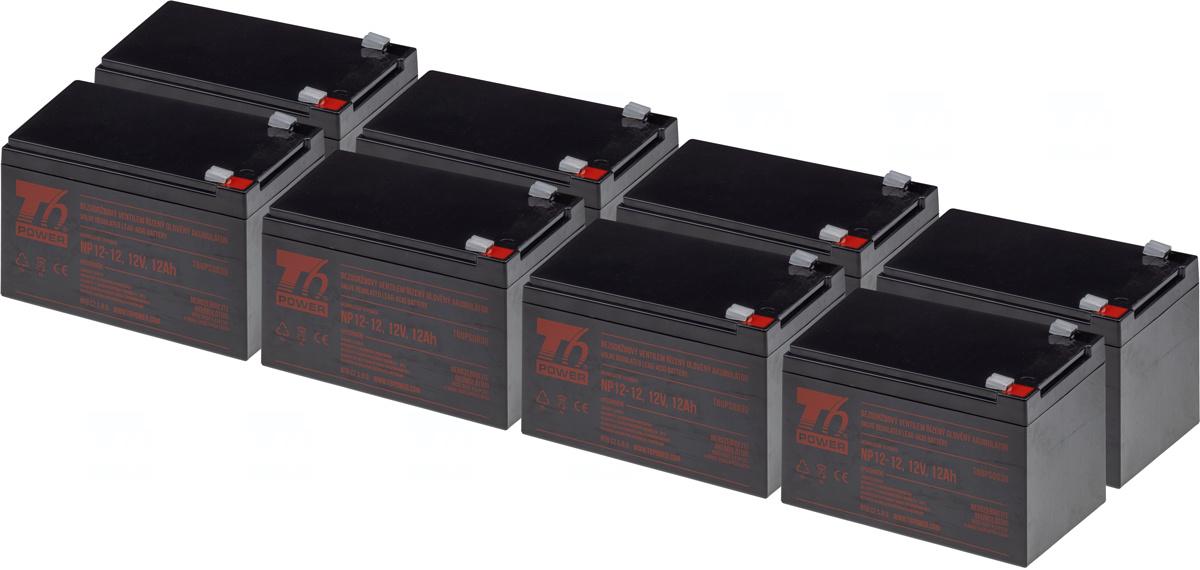 SADA 8ks akumulátor T6 Power NP12-12, 12V, 12Ah