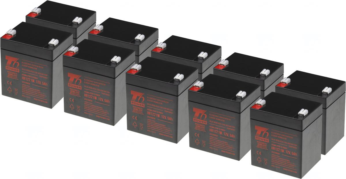 SADA 10ks akumulátor T6 Power HR1221W, 12V, 5Ah