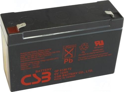 akumulátor CSB GP6120 F2 (6V/12Ah)