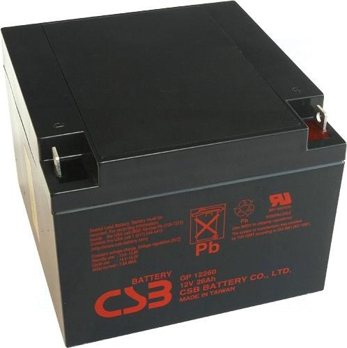 akumulátor CSB GP12260 I (12V/26Ah)