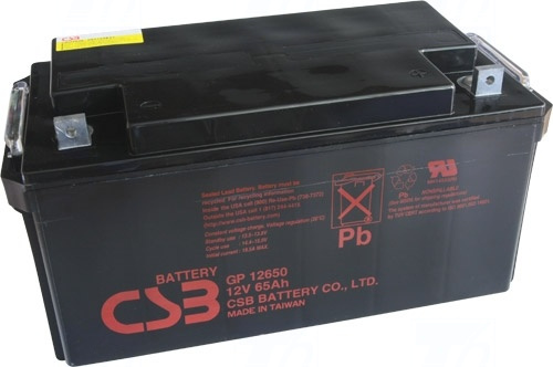 akumulátor CSB GP12650 (12V/65Ah)