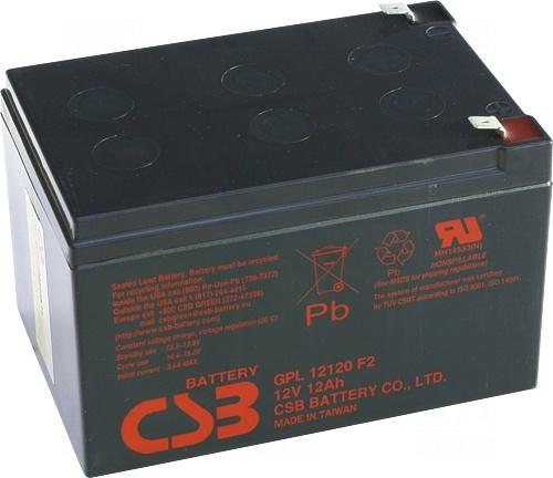 akumulátor CSB GPL12120F2 (12V/12Ah)