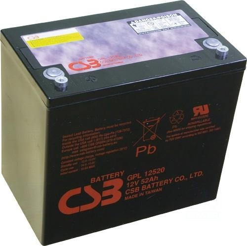 akumulátor CSB GPL12520 (12V/52Ah)