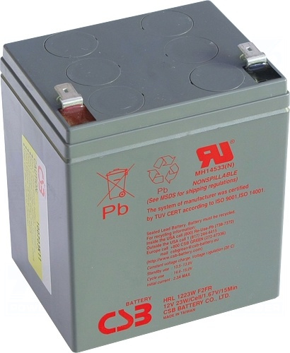 akumulátor CSB HRL1223W F2FR (12V/5,5Ah)