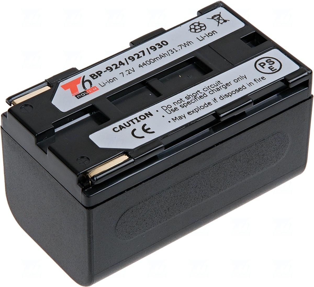 Baterie T6 power BP-924, BP-911, BP-911K, BP-914, BP-915, BP-925, BP-927, BP-930, BP-930E, BP-930R, BP-941, černá