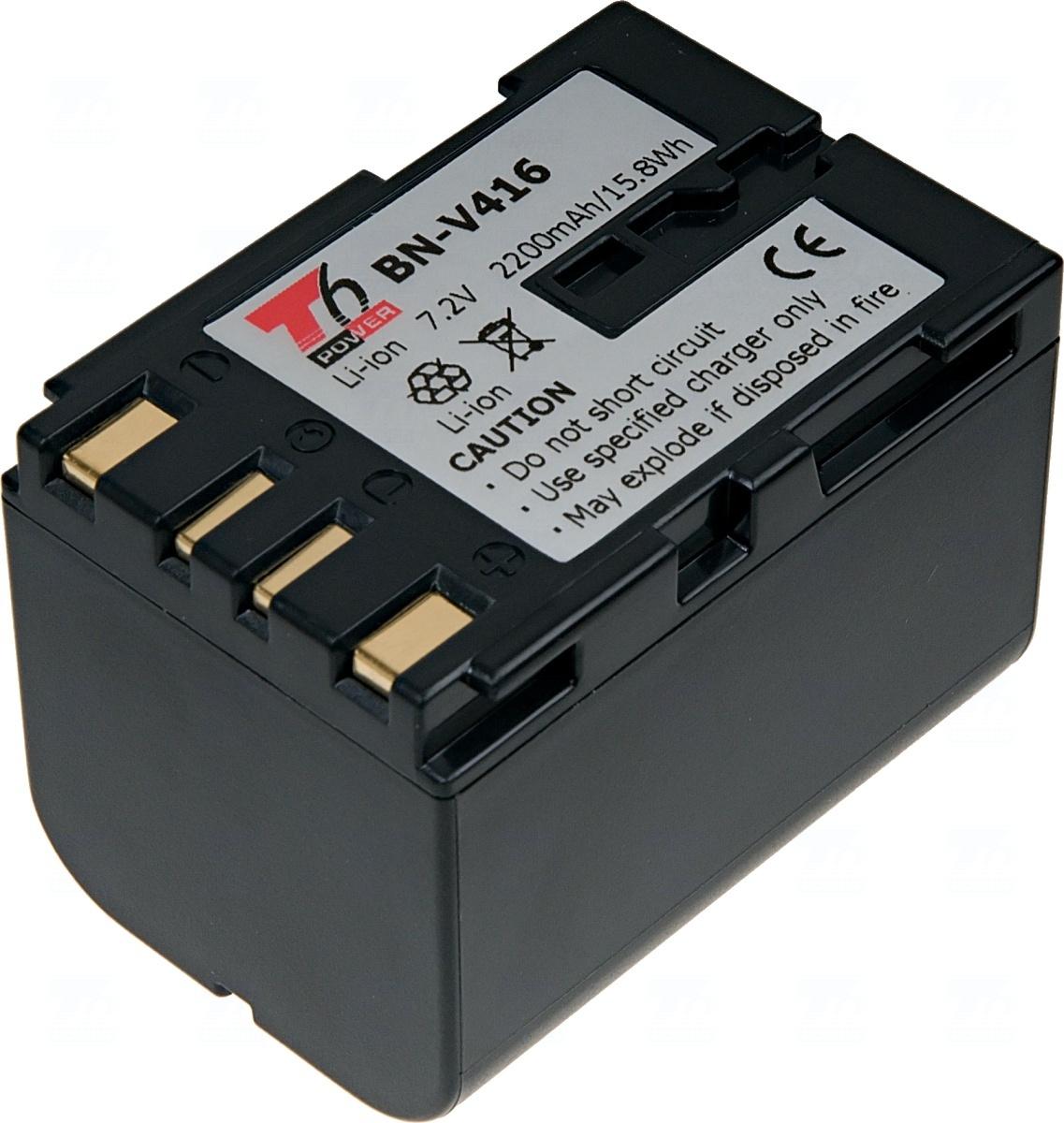 Baterie T6 power BN-V416, BN-V408, BN-V408-H, BN-V408U, BN-V416-H, BN-V416U, šedá