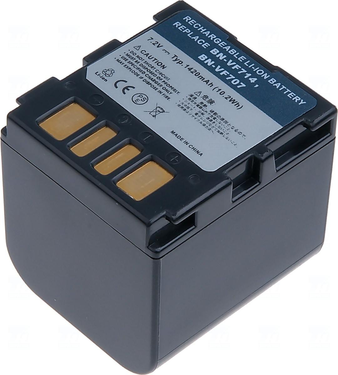 Baterie T6 power BN-VF707U, BN-VF707, BN-VF714, BN-VF707US, BN-VF707UE, BN-VF714U, BN-VF714US, BN-VF714UE, LY34647-002B, šedá